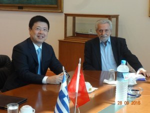 Ambassador Zou and Minister Dritsas. Source: Embassy of China in Greece