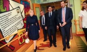 Mr Dimitris Giannakopoulos entering ELPIDA Children's Oncology Unit