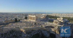 Screenshot shows the Athens Acropolis on Nov. 10, 2016 (Source: Xinhua)